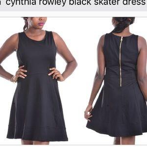 Cynthia Rowley black skater dress szS EUC